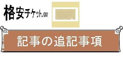 格安チケットの航空券情報・追記事項(カテゴリ)画像